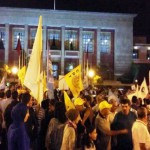 وقفة أمام مقر البرلمان المغربي